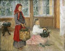 Children On The Terrace - Алексей Иванович Корзухин
