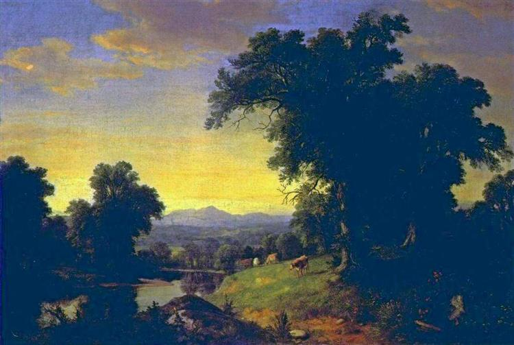 a Pastoral Scene - Asher Brown Durand