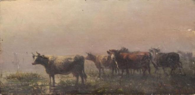 Cows in Pasture - August Friedrich Schenck