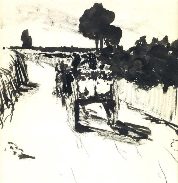 Carro en el camino, 1890 - Robert Henri