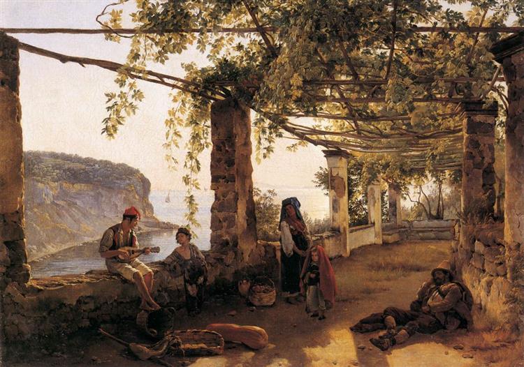 Terrace at Sorrento, 1826 - Sylvester Shchedrin