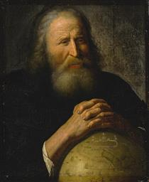 Heraclitus With A Globe - Johan Moreelse