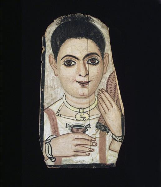 Portrait of a Young Person - Fayum portrait