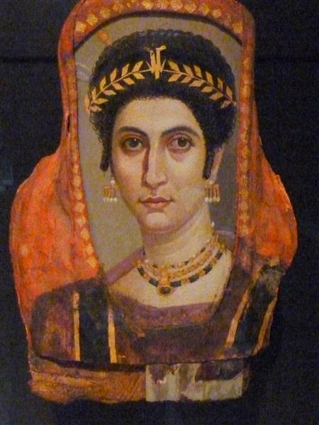 Mummy Portrait of a Woman, c.100 - c.110 - Retratos de El Fayum