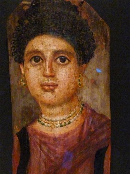 Mummy Portrait of a Woman, c.75 - c.100 - Fayum portrait