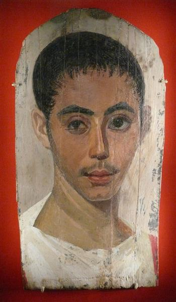 Portrait of a Youth with a Surgical Cut in One Eye - Fayum portrait