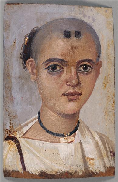 Mummy Portrait of a Boy - Fayum portrait