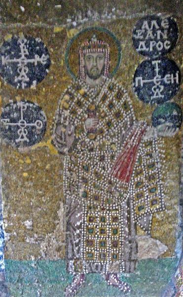 Mosaic of Emperor Alexandros, c.913 - Byzantine Mosaics