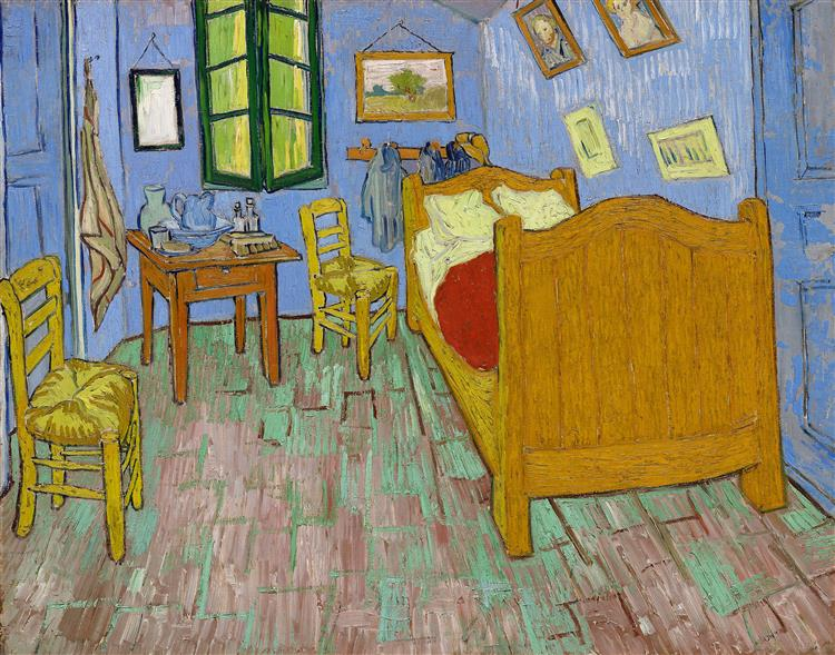 Vincent's Bedroom in Arles, 1889 - Vincent van Gogh