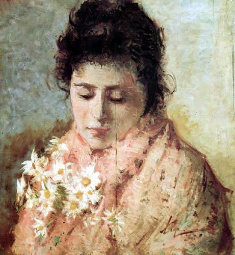 Portrait of a Lady, 1882 - Silvestro Lega