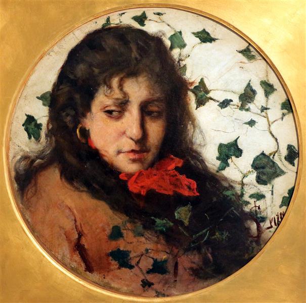 Donna Con Edera - Silvestro Lega