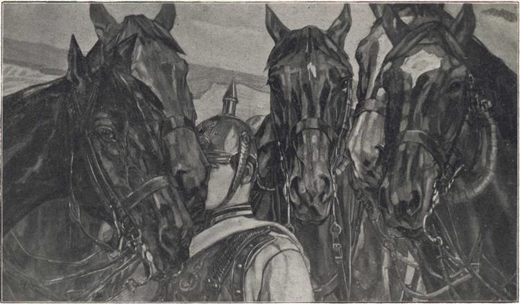 Calvary Horses, 1901 - Вильгельм Трюбнер