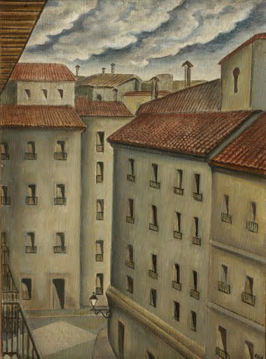 From my room in Madrid - Santa Teresa Street, c.1924 - Carlos Quizpez Asín