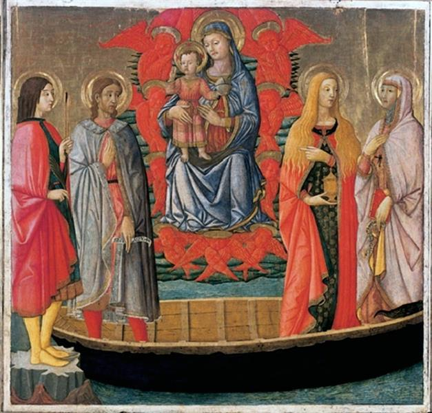 Madonna and Child and  Saints, c.1450 - Lo Scheggia
