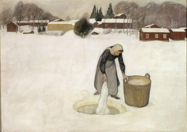 Washing on the Ice, 1900 - Halonen, Pekka