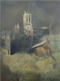 D Day, Reconstruction (Bombed Cathedral) - Richard Eurich