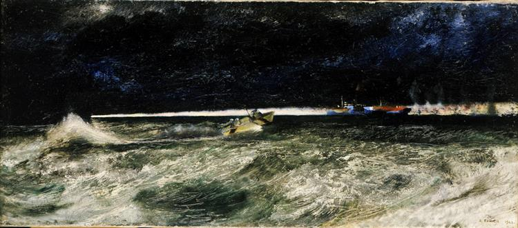 Naval Light Forces Going into Action, 1942 - Richard Eurich