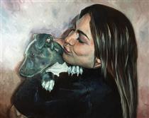 Retrato Mujer Con Perro - Soleto