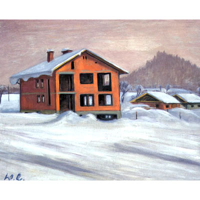 Shell of the Building in Winter, 1972 - Werner Berg