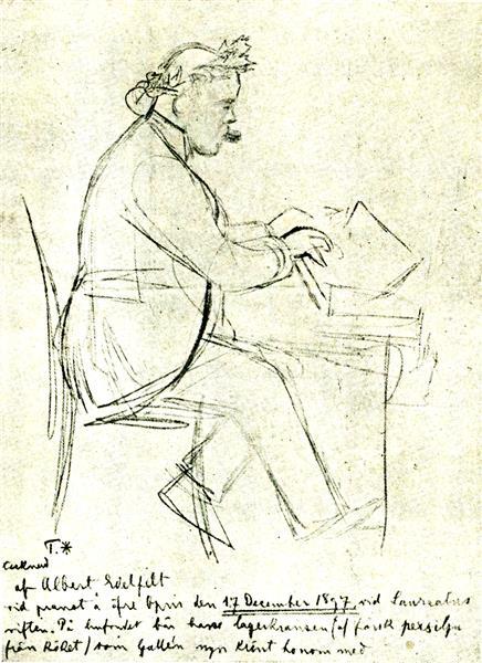 Karl August Tavastsjerna at the Piano, 1897 - Albert Edelfelt