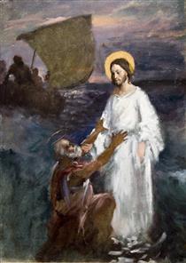 Christ Walks on Water - Järnefelt, Eero