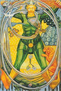 Atu 0 - The Fool - Thoth Tarot - Aleister Crowley - Frieda Harris