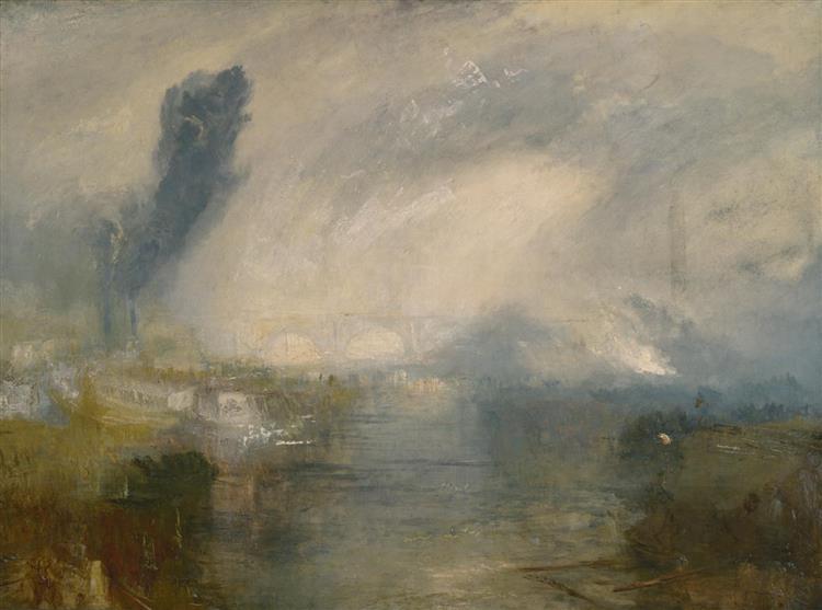 The Thames Above Waterloo Bridge, 1830 - 1835 - Уильям Тёрнер