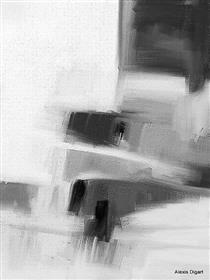 A153  ABSTRACT BLACK & WHITE - Alexis Digart