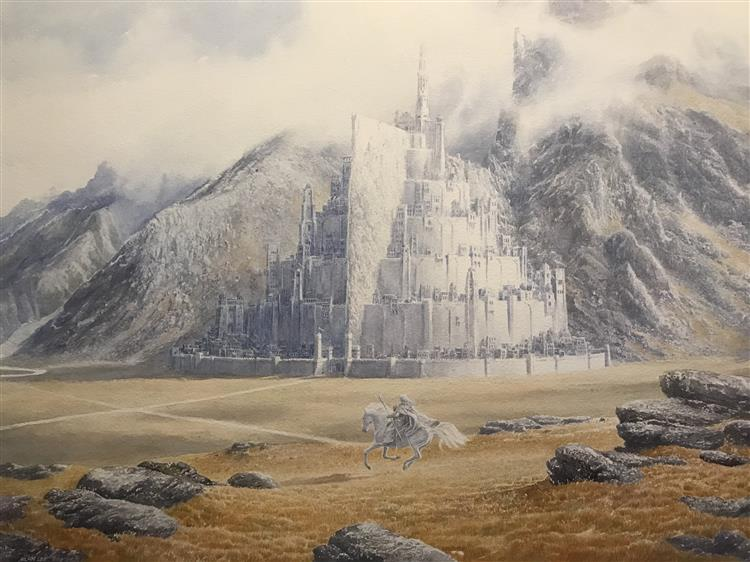 Gandalf Rides to Minas Tirith - Alan Lee