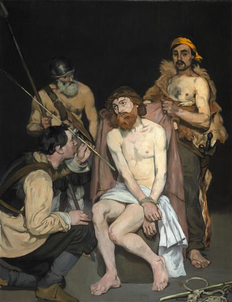 Jesus mocked by the Soldiers, 1865 - Edouard Manet