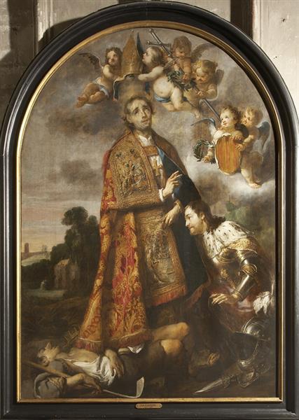 St Rumbold Blesses St Libertus, 1641 - c.1660 - Jan Cossiers