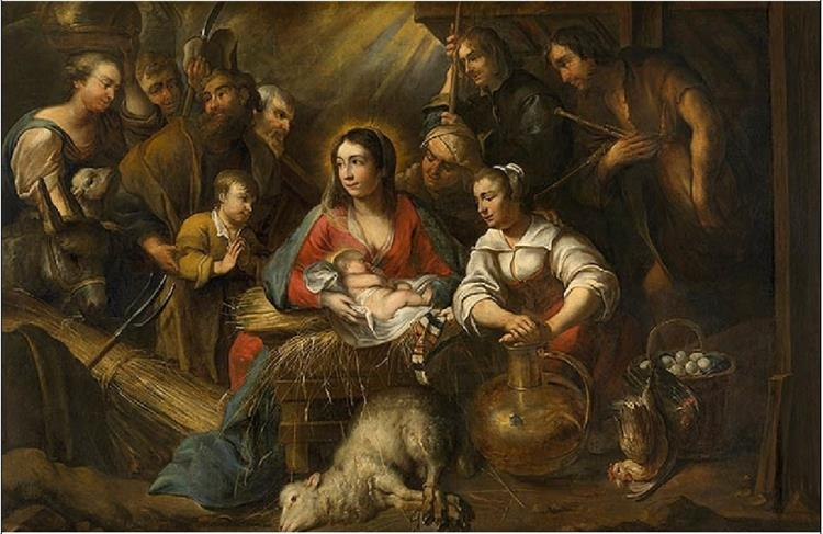 The Adoration of the Shepherds - Jan Cossiers