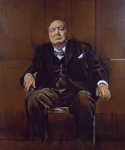 Portrait von Winston Churchill, 1954 - Graham Sutherland
