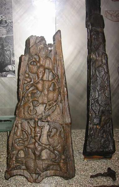 Detail from the Oseberg Ship - Північне мистецтво