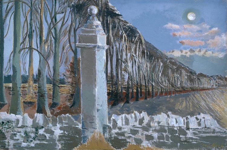Pillar and Moon, 1932 - 1942 - Paul Nash