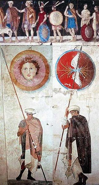 Macedonian Tomb Fresco from Agios Athanasios, Thessaloniki, Greece - Ancient Greek Painting