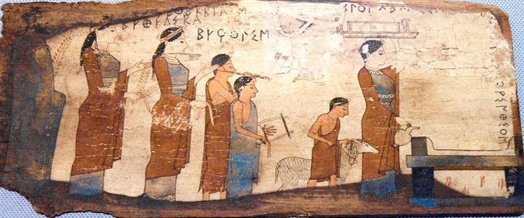 Pitsa Panel, Corinthia, Greece - Ancient Greek Painting