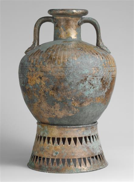 Bronze Pointed Neck Amphora with Stand 450, c.460 BC - Ancient Greek Pottery