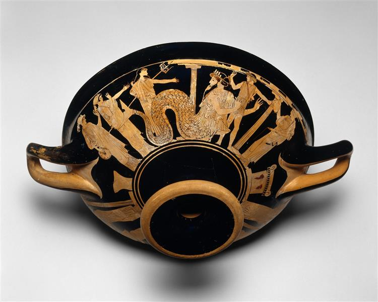 Terracotta Kylix (drinking Cup), c.500 BC - Ancient Greek Pottery