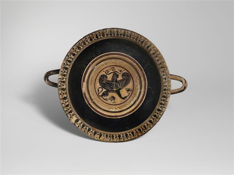Terracotta Kylix (drinking Cup), c.550 BC - Ancient Greek Pottery