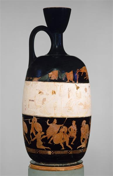 Terracotta Lekythos (oil Flask), c.420 BC - Кераміка Стародавньої Греції