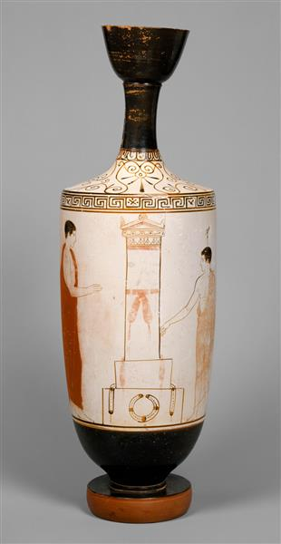 Terracotta Lekythos (oil Flask), c.440 BC - Ancient Greek Pottery