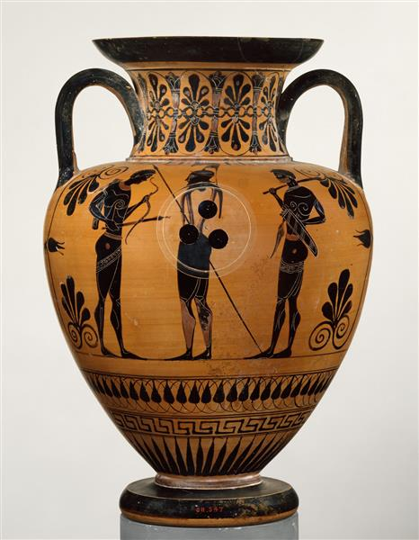 Terracotta Neck Amphora (jar), c.530 BC - Ancient Greek Pottery