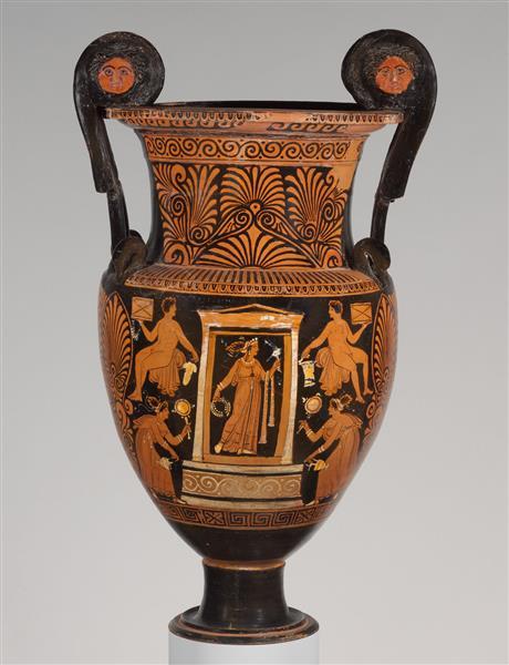 Terracotta Volute Krater (mixing Bowl), c.310 BC - Céramique grecque antique