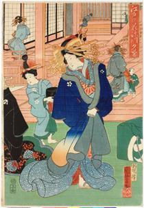 Fiori di Edo (a destra) - Utagawa Kuniyoshi