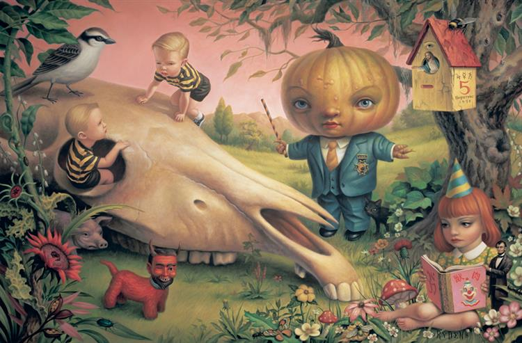 The Pumpkin President, 1998 - Mark Ryden
