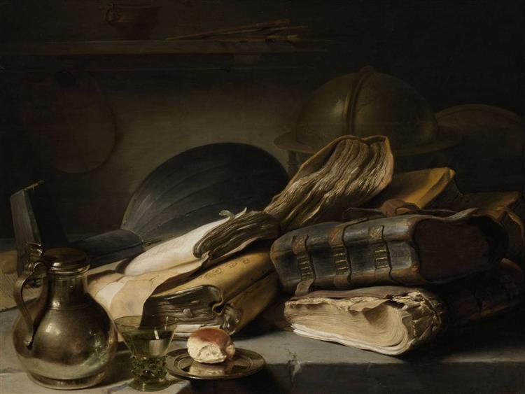 Still Life with Books, c.1627 - c.1628 - Jan Lievens