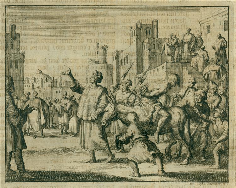 Johannes, Merchent of Cordoba, Being Taken for Execution, AD 850, 1685 - Jan Luyken
