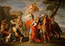 Alexander the Great founding Alexandria - Placido Costanzi