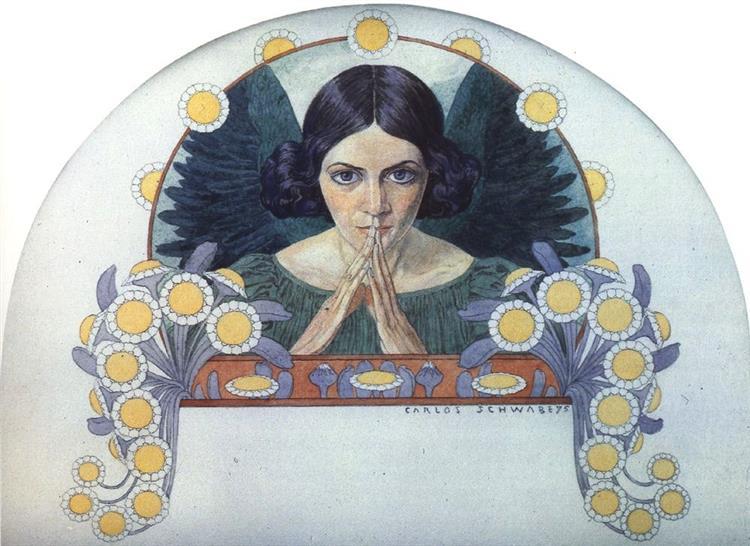 Angel of Hope, 1895 - Carlos Schwabe